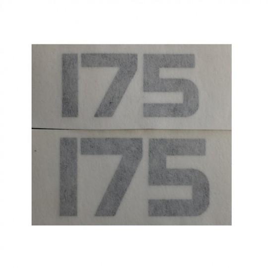 Yamaha TY, stickers latéraux